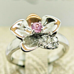 Clogau Gold Silver / Gold Orchid Ring