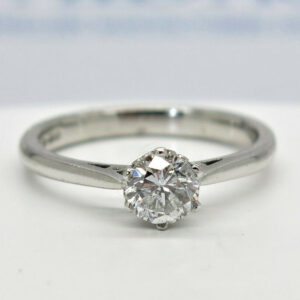 Platinum Diamond Solitaire 0.69 Carat Ring