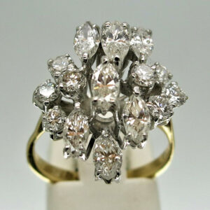 18ct Fancy Cluster 2.34ct Diamond Ring