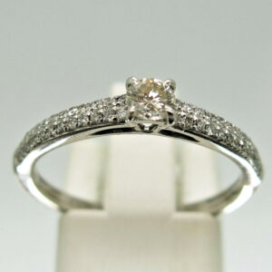 9ct White Gold Diamond Single Stone Engagement Ring