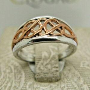 Clogau Silver & Rose Gold Celtic Ring