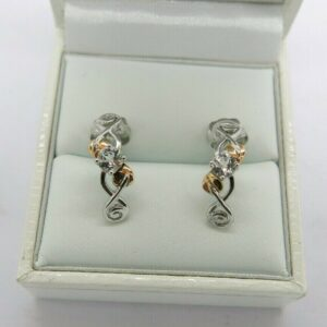 Clogau Silver and Rose Gold Tree Of Life Earrings