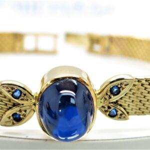 18 carat yellow gold ladies bracelet .