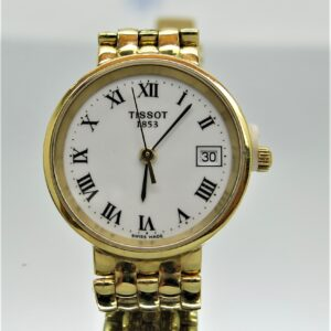18 carat yellow gold Tisot ladies watch