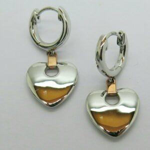 Clogau Silver and Rosegold Cariad Earrings