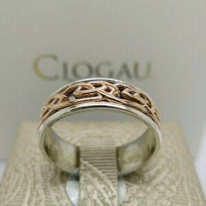 Clogau Silver and Rosegold Annwyl Ring