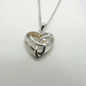 Clogau Silver and Rose Gold Eternal Love Pendant