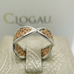 Clogau Silver and Rose Gold King Arthur Ring