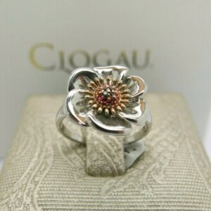 Clogau Silver and Rosegold Welsh Poppy Ring