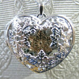 Clogau Silver and Rose Gold Snowflake Locket Pendant