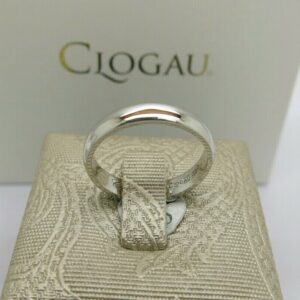 Clogau 9ct White Gold Windsor Collection Wedding Ring
