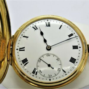18 carat yellow gold pocket watch
