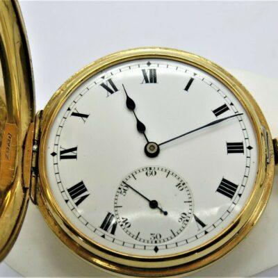18 carat yellow gold pocket watch