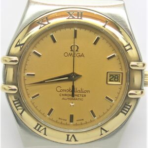 OMEGA CONSELLION AUTOMATIC MOVEMENTS .18 CARAT YELLOW GOLD AND STEEL . THIS WATCH HAD FULLY SERVICES AND WORKING IN GOOD ORDER . THE WATCH COMES 6 MONTHS GURANTTE . INQUIREY TEL.01792648143