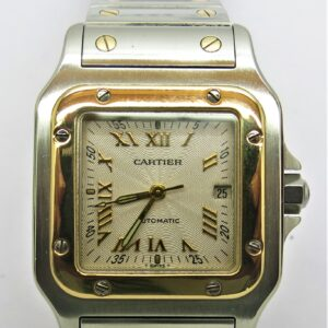 CARTIER AUTOMATIC MOVMENTS 18 CARAT YELLOW GOLD AND STEEL . INQUIREY TEL.01792648143